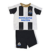 Newcastle United Baby Kit T-Shirt & Shorts - 2016/17 Season - White & Black