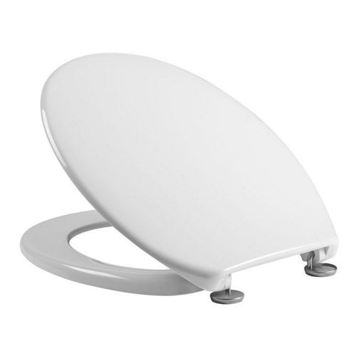 Tavistock Aspire WHITE Thermoset Toilet Seat with High Durability Plastic Hinges