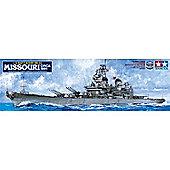 US Battleship BB-63 Missouri Circa 1991 1:350 Scale Model Kit - Tamiya