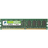 Corsair Microsystems Value Select 1GB 533MHz PC2 4200 DDR2 SDRAM Memory Module