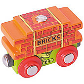 Bigjigs Rail BJT403 Bricks Wagon
