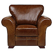 Aldeborough Leather Armchair, Caramel