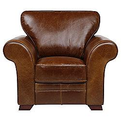 Aldeborough Leather Armchair, Caramel