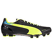 Puma evoSPEED 4.2 FG Firm Ground Mens Football Boot Black/ Fluo - Black