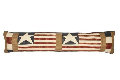 Woven Magic Star and Stripes Patriotic Plaids Draught Excluder