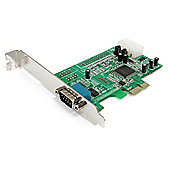 StarTech RS232 1 Port Native PCI Express Serial Adapter Card with 16550 UART