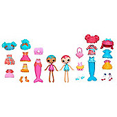 Lalaloopsy Minis Style 'n' Swap Doll Two Pack - Sand E. Starfish & Coral Sea Shells