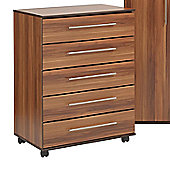 Ideal Furniture New York Five Drawer Chest - American Walnut