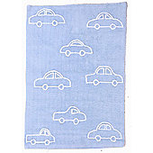 Lorena Canals Coches Blue Children's Rug - 120 cm W x 160 cm D (3 ft 11 in x 5 ft 3 in)