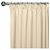 "Tesco Faux Silk Lined Pencil Pleat Curtains W163xL183cm (64x72""), Ivory"