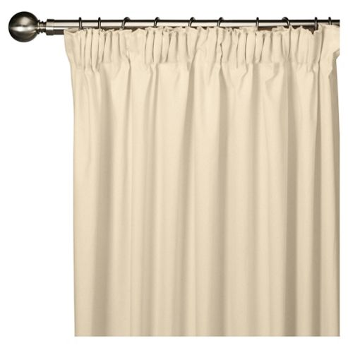 Faux Silk Lined Pencil Pleat Curtains W163xL183cm (64x72