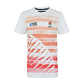 Kids England Rugby Graphic T-Shirt - White