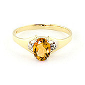 QP Jewellers Diamond & Citrine Oval Desire Ring in 14K Gold