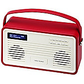 View Quest Retro ColourGen DAB+/FM Radio with iPod Dock (Red, 30 Pin)