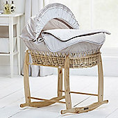 Clair de Lune Natural Wicker Moses Basket (Bedtime Story)