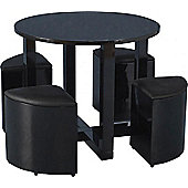 ValuFurniture Charisma Gloss Black Stowaway Dining Set