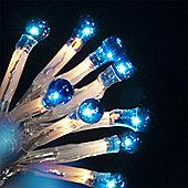 50 Indoor & Outdoor Blue Berry Static Micro Lights