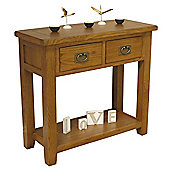 Tucan Rustic Oak 2 Drawer Console Table