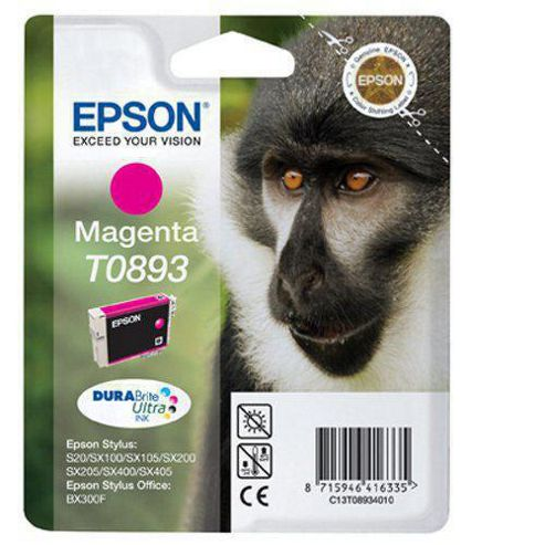 Epson T0893 Magenta Ink Cartridge for Stylus S20/SX100/SX105