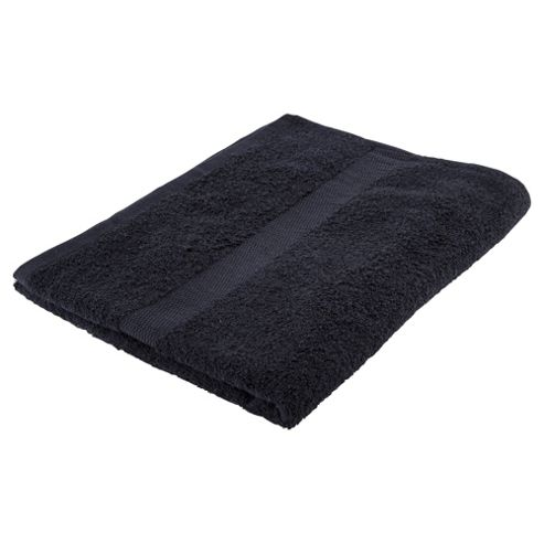 Tesco Basic black Bath Towel