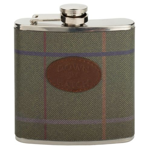 Mortymer Brothers Tweed Hip Flask