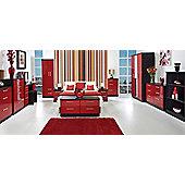 Welcome Furniture Knightsbridge 4 Drawer Chest - Black - Ruby