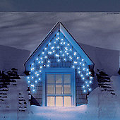 Snowtime 180 LED Icicle Lights - Electric Blue