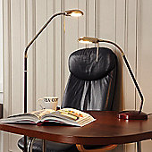 Endon Lighting Wood Floor Lamp in Antique