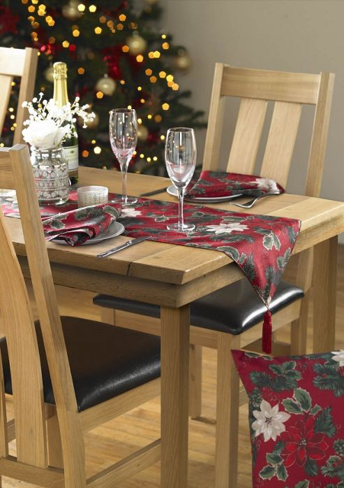Poinsettia table Table Runner  runner tesco