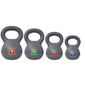 Palm Springs Fitness Kettle Bell 4Pc Kettlebell Set - 8Kg - 6Kg - 4Kg - 2Kg