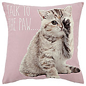 Talk to The Paw Cushion