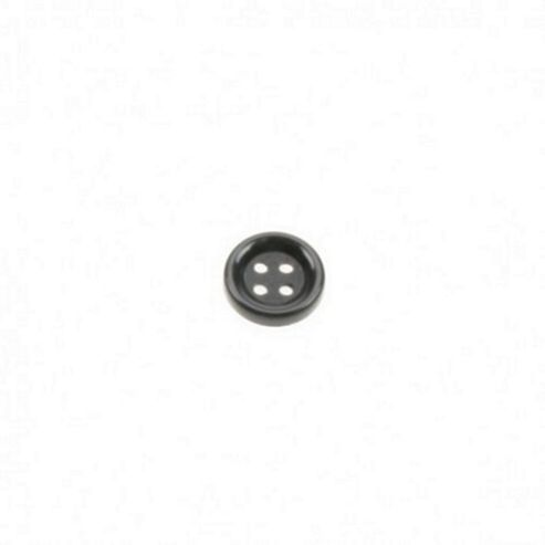 Dill Buttons 13mm Round - Black
