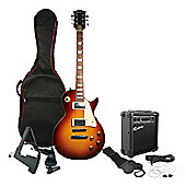 Rockburn Rock Style Electric Guitar Package - Tobacco Sunburst