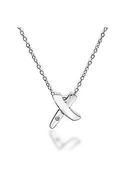 Lily & Lotty Sterling Silver 0.01ct Diamond EVA Necklace