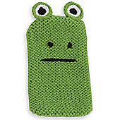 Quirky Knitted Character Handy Phone Cover - Green Frog