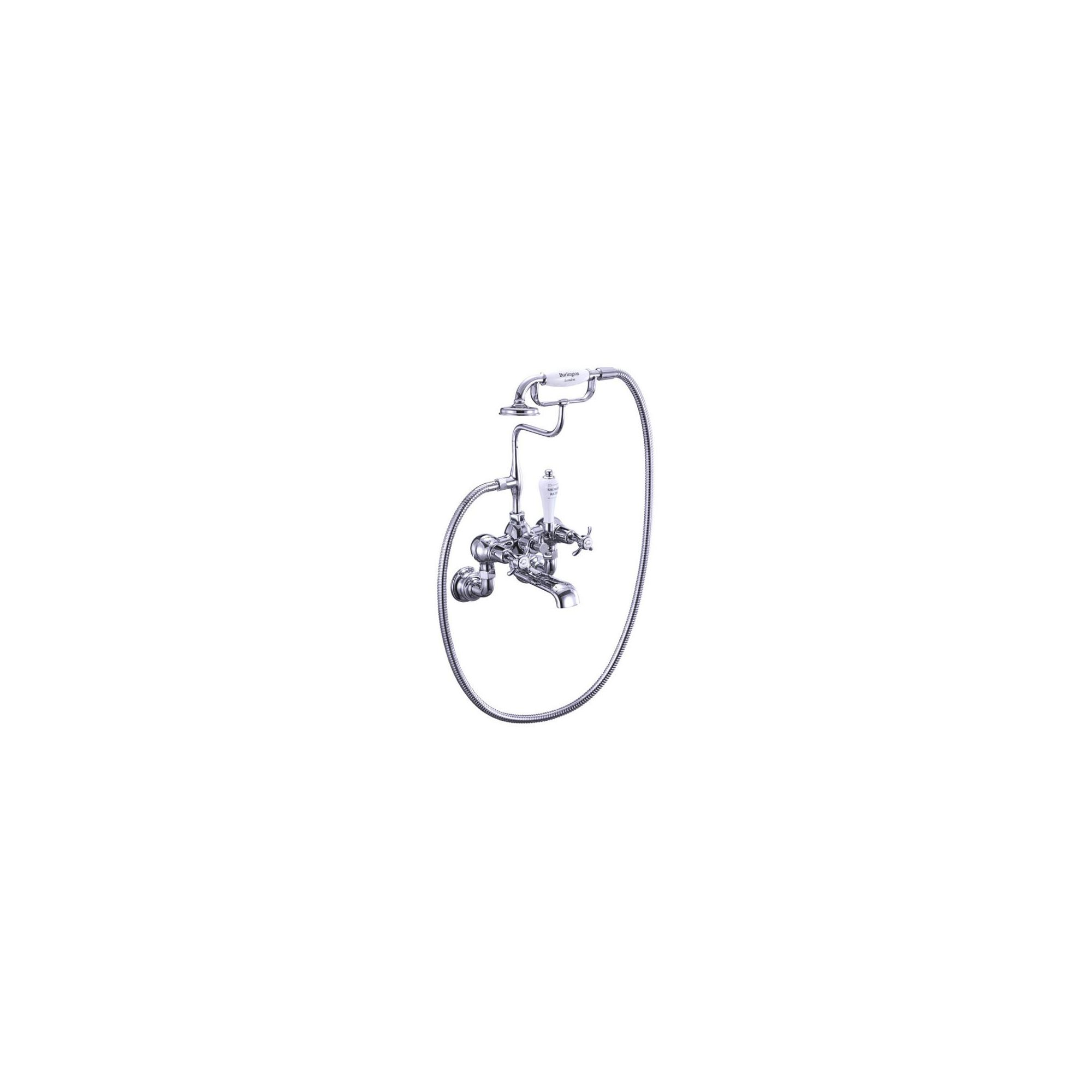 Burlington Anglesey Regent Bath Shower Tap, Wall Mounted, Chrome at Tesco Direct