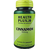 Health Plus Cinnamon 500mgVegan 60 Veg Capsules