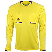 adidas Mens Yellow Long Sleeved Formotion Referee Shirt Jersey - Yellow