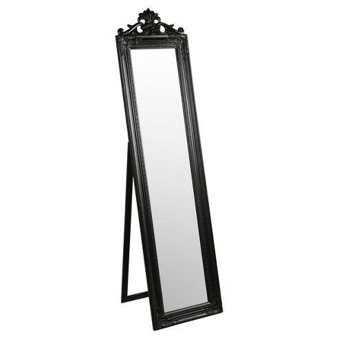 Home Essence Elizabeth Standing Floor Mirror - Silver