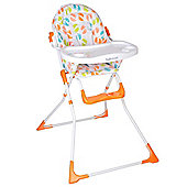 Safetots Bright Feet Compact Foldable Highchair