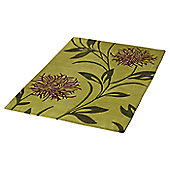 Ultimate Rug Co Floral Art Thistle Green Rug - 160 cm x 230 cm (5 ft 3 in x 7 ft 6.5 in)
