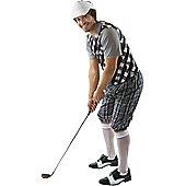 Male Golfer Costume (Black & White) Standard