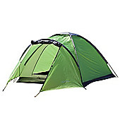 North Gear Camping Mono 3 Man Waterproof Dome Tent Green