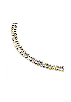 Gilded Sterling Silver Diamond-cut Double Link Tennis Necklace