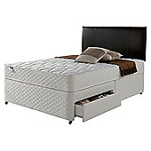 Silentnight Miracoil Comfort Micro Quilt 2 Drawer Divan, Double