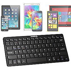 Black Bluetooth 3.0 Keyboard - Windows/IOS/Andrioid