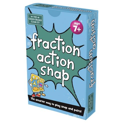 BrainBox Fraction Action Green Board Games