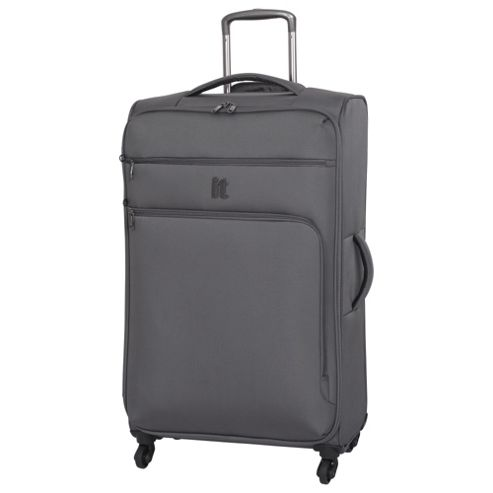 buy it luggage megalite 4 wheel large pewter suitcase from. Black Bedroom Furniture Sets. Home Design Ideas
