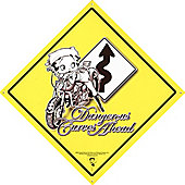 Betty Boop Dangerous Curves Ahead Tin Sign