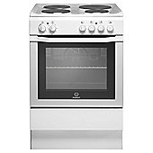 Indesit I6EVAW, Freestanding, Electric Cooker, 60cm,  White, Single Cavity, Single Oven